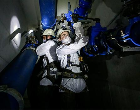 Défi n°1 : Inspecter des ouvrages sans présence d'agent en espace confiné